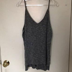Grey sweater tank top